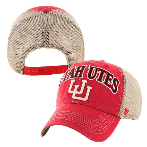Forty Seven Brand Adjustable Utah Utes Interlocking U Hat