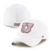 47 Brand Silver Block U White Flex Fit Hat
