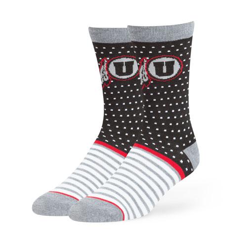 47 Brand Polka Dot Athletic Logo Socks