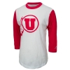 Athletic Logo Red Sleeved Womens Baseball Tee