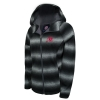 GIII Athletic Logo Grey and Black Womens Hooded Jacket