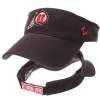 Zephyr Black Athletic Logo Visor