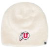 Top of the World Fluffy Cream Athletic Logo Beanie