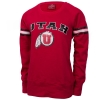 Colosseum Utah Sequined Athletic Logo Crew Neck Sweatshirt