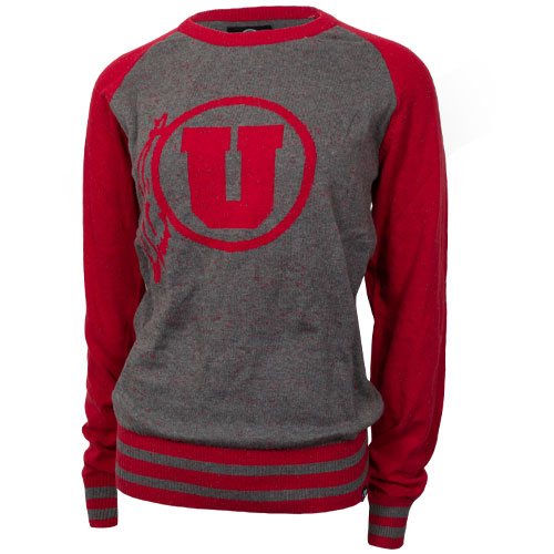 47 Brand Athletic Logo Red and Gray Sweater