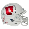 Mini Utah Utes White Chrome Athletic Logo Helmet