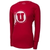 League Womens Athletic Logo Waffle-Knit Long Sleeve