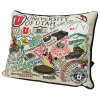 The University of Utah Embroidered Collage Pillow