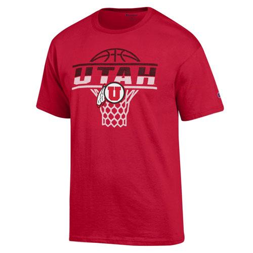 Champion Utah Athletic Logo Basketball T-Shirt