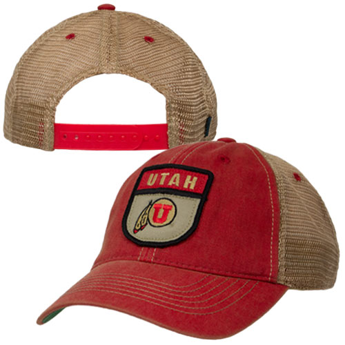 Legacy Utah Athletic Logo Patch Adjustable Mesh Hat