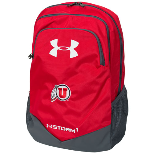 Under Armour Athletic Logo Scrimmage Red Backpack