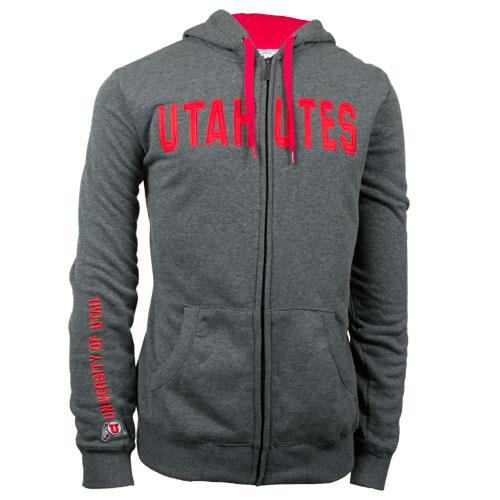 Champion Utah Utes Full Zip Hooded Sweatshirt