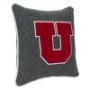 Block U Gray Wool Pillow