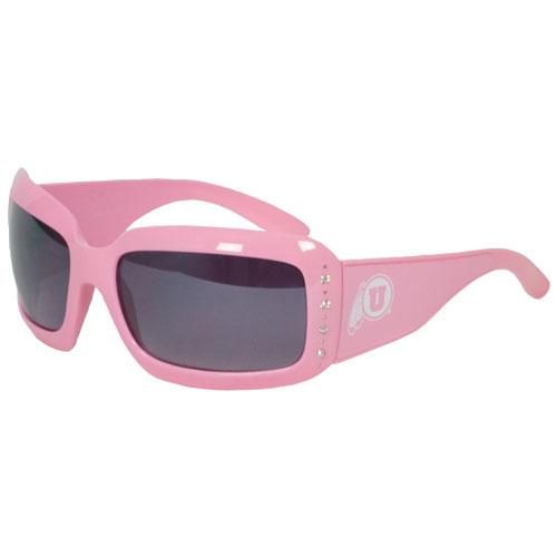 Athletic Logo Pink Rhinestone Sunglasses