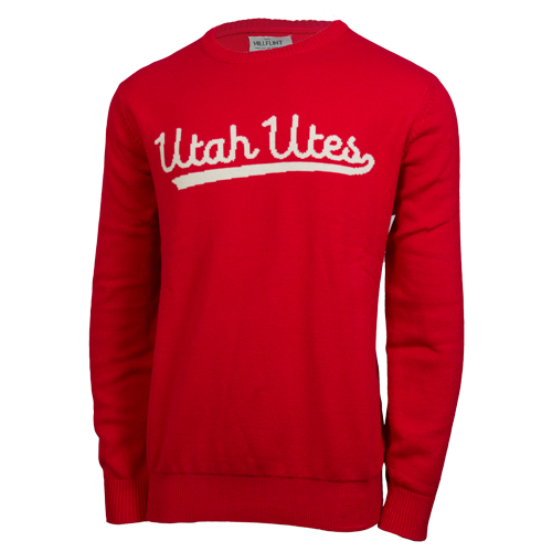 Hillflint Women's Cursive Utah Utes Red Sweater