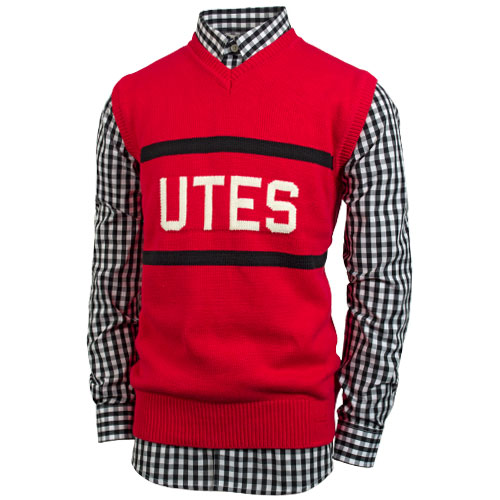 Hillflint Utes Red Sweater Vest