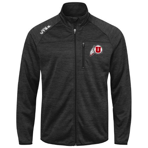 Utah Utes Applique Athletic Logo Full Zip Jacket