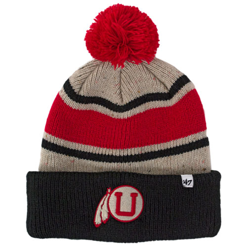 47 Brand Throwback Athletic Logo Striped Beanie