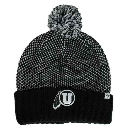 47 Brand Athletic Logo Knitted Pom Pom Beanie