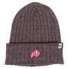 47 Brand Throwback Athletic Logo Charcoal Knitted Beanie