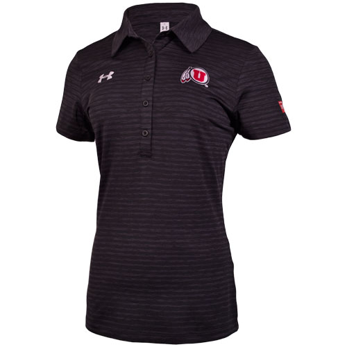 Under Armour Women's Athletic Logo Subtle Stripes Polo
