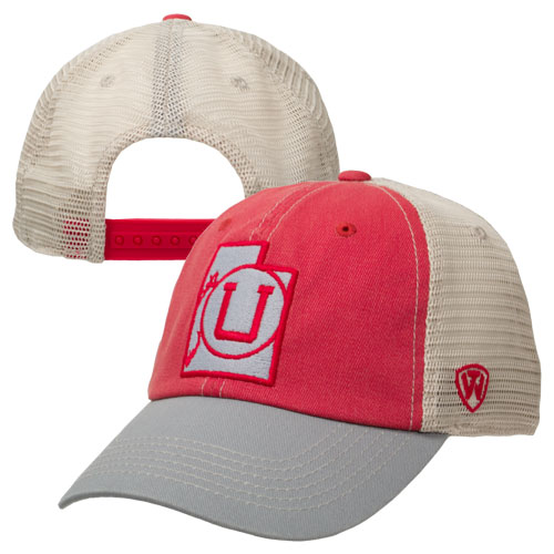 Top of the World Utah State Outline Athletic Logo Hat