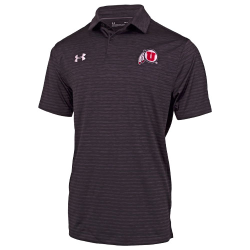 Under Armour Athletic logo Heather Striped Men Polo