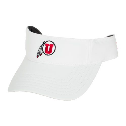 Under Armour Athletic Logo White Mens Adjustable Visor
