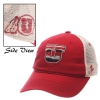 Zephyr Block U and Athletic logo Dark red adjustable men hat