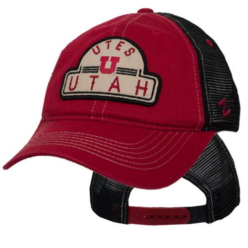 Zephyr Utes Utah Block U Adjustable Mesh Back Hat