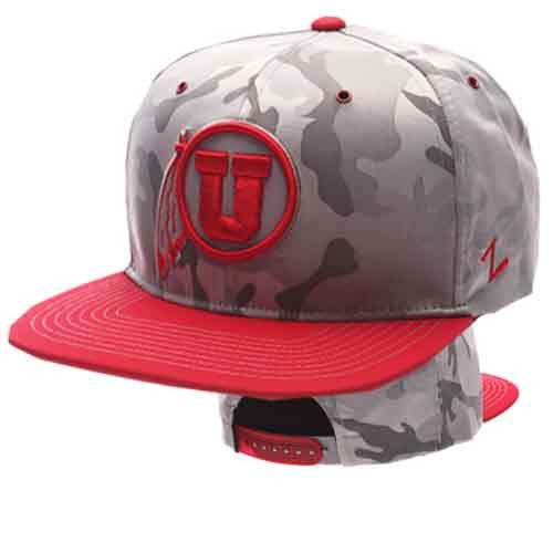Zephyr Athletic Logo Gray Camo Adjustable Hat