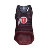 Zoozatz Athletic Logo Striped Womens Tank Top