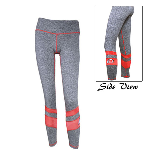 Zoozatz Athletic Logo Red-Lined Womens Leggings
