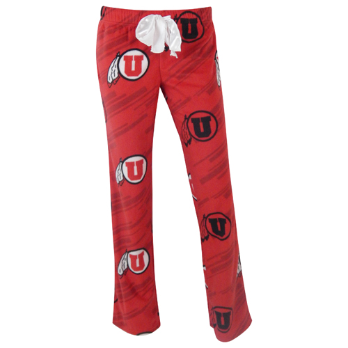 Women's Utah Patterned Athletic Logo Pajama Pants