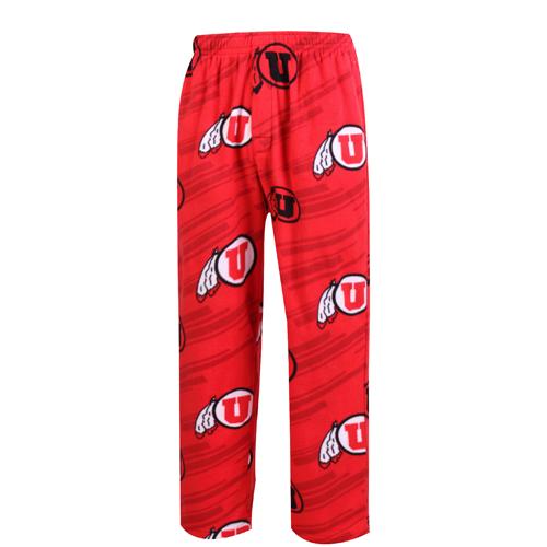 Utah Patterned Athletic Logo Pajama Pants