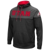 Colosseum UTAH Athletic logo Black Grey Quarter Zip Hoodie