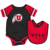 Colosseum Utes Athletic Logo Bib and Onesie Set