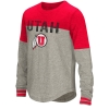 Utah Athletic Logo Youth Girls Long Sleeve