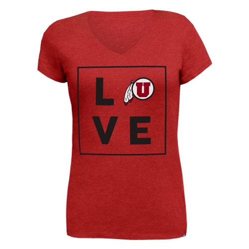 47 Brand Love Athletic Logo Womens T-Shirt