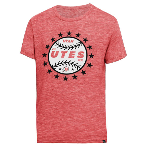 47 Brand Utah Utes Baseball T-Shirt