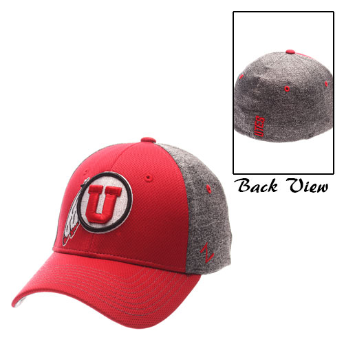 Zephyr Athletic Logo Red and Gray Flex Fit Hat