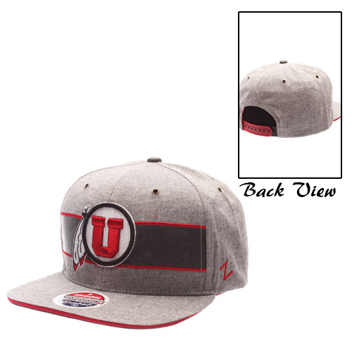 Zephyr Grey Stripe Athletic Logo Snapback