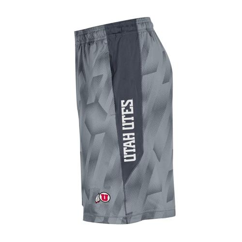 Under Armour Gray Pattern Utah Utes Athletic Logo Short