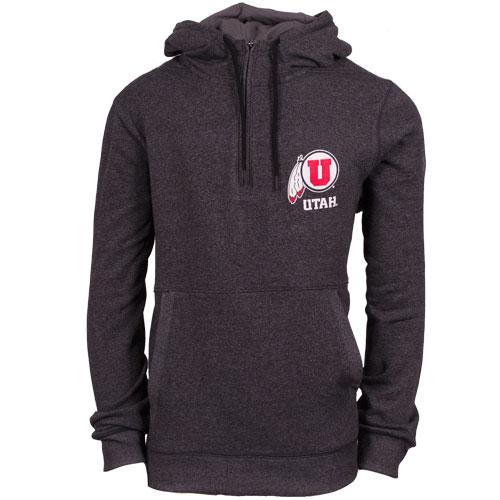 Under Armour Utah Athletic logo Fleece Quarter Zip Hoodie