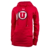 Under Armour Red Athletic Logo Hooded Pullover