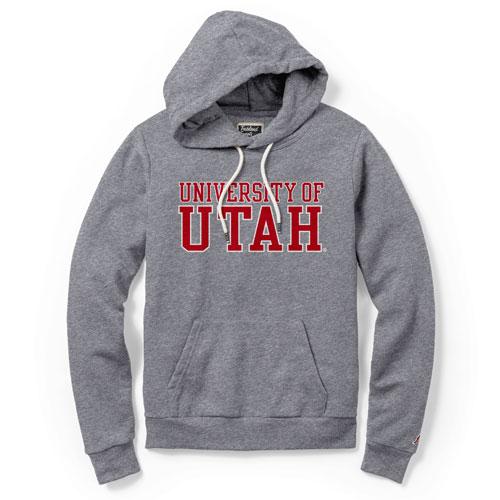 League University of Utah Womens Hooded Triblend Sweatshirt