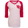 League Women Interlocked U White Red T- Shirt