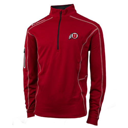 Colombia Athletic Logo Quarter Zip Mens Pullover