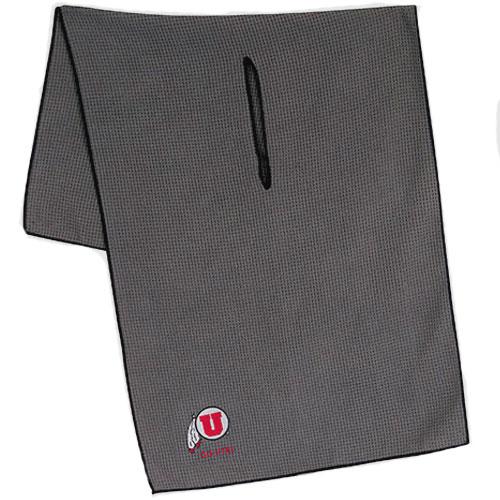 Athletic Logo Go Utes Microfiber Golf Towel WithCenter Slit