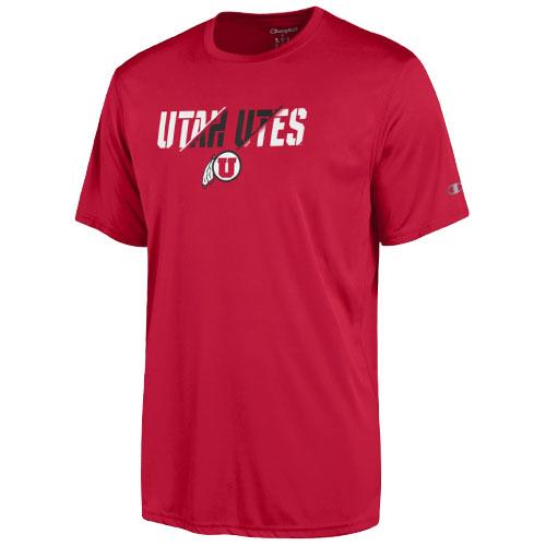 Champion Utah UTES Athletic logo Red T-shirt